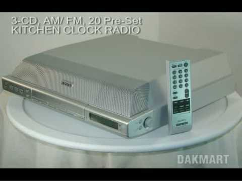 Sony Icf Cdk70 Cd, Am/ Fm Kitchen Clock Radio   IcfCdk70