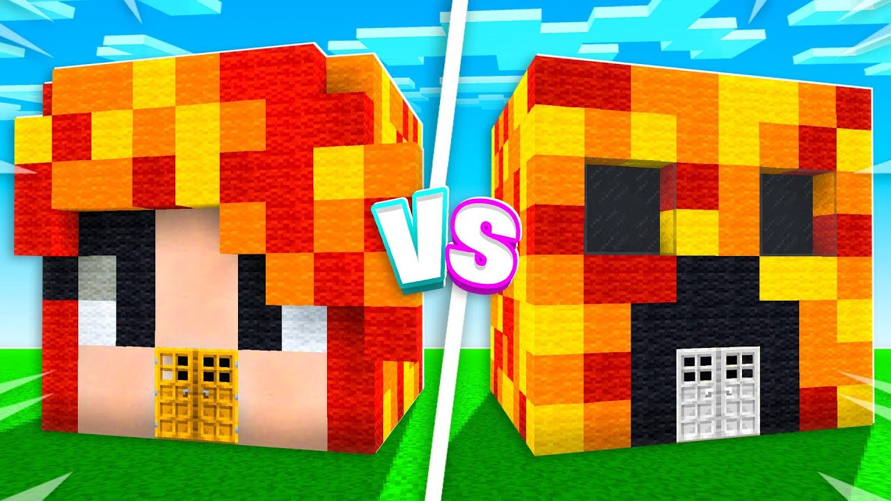 Minecraft House Battle vs My Little Sister! (Boy vs Girl) thumbnail