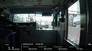[FHD|ac]JR東日本・山手線:秋葉原→品川駅間、E235系/乗車走行シーン。【車窓▲前面展望】