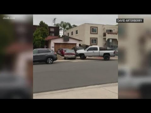 Captured On Video: Man Rams Pacific Beach Cars With Pickup