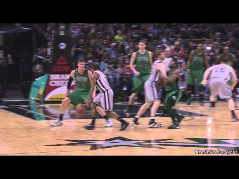 Marcus Smart given flagrant 2 for hitting Matt Bonner in the nuts (3-20-15)