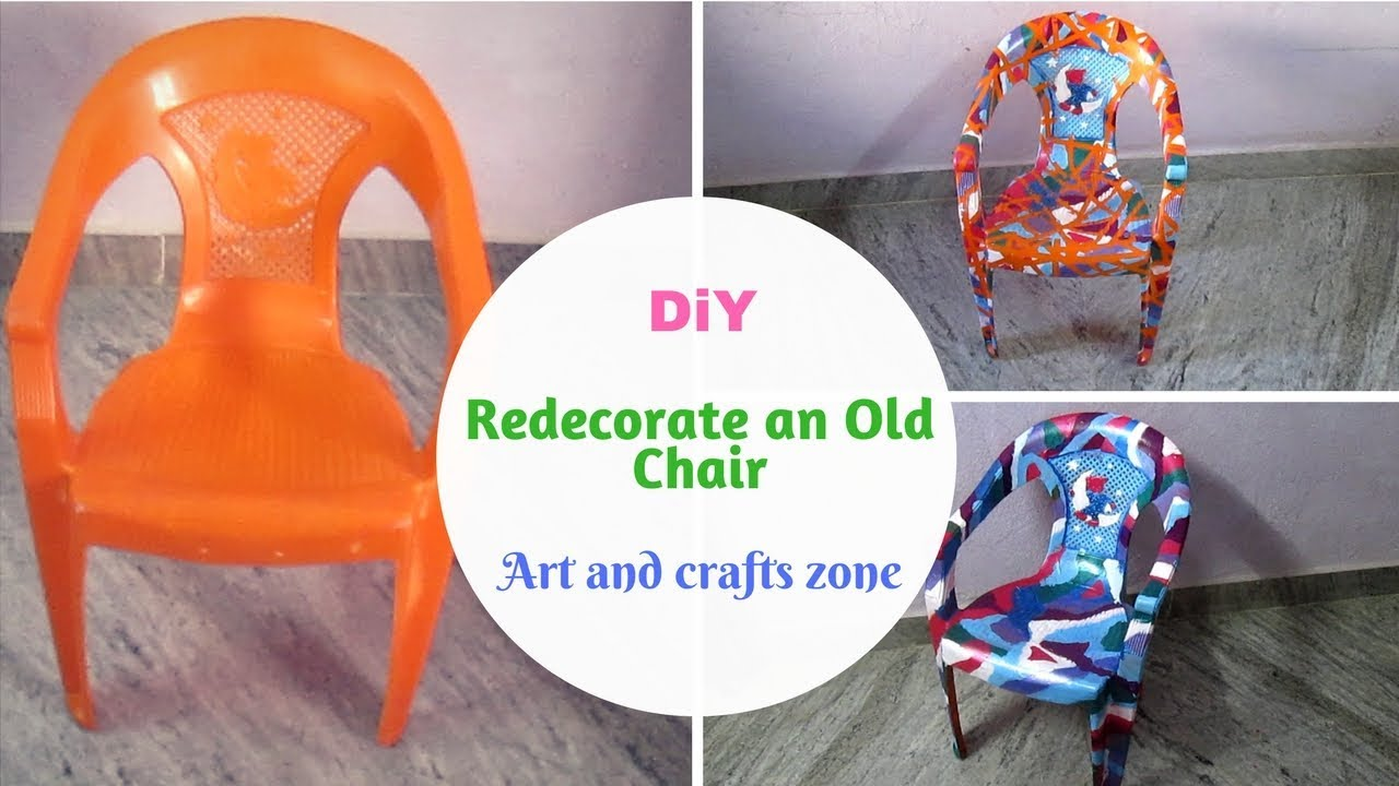 reuse old plastic chairs