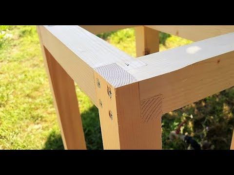 Tavolo Da Lavoro Realizzato Con La Sola Ryoba E Un Semplice Incastro Youtube