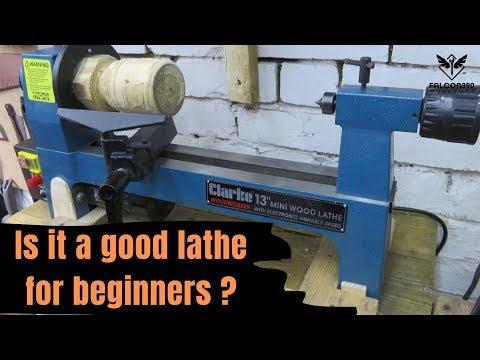 Mini wood lathe Clarke Woodworker CWL325V - 동영상