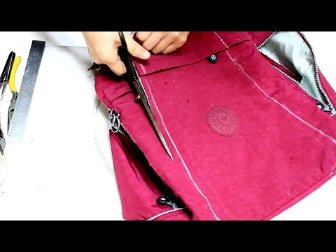 up cycling23/키플링 가방으로 만든 슬링백/sling backpack DIY/KipLing bag upcycling/슬링백 만들기