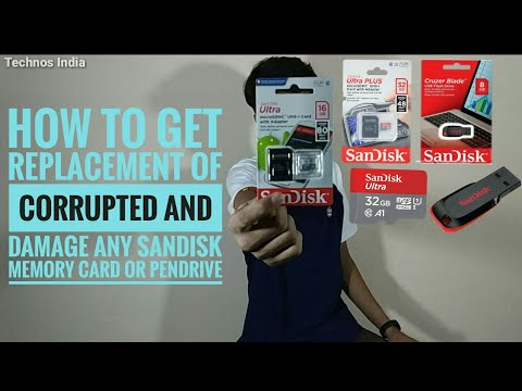How To Get Replacement Of Corrupted And Damage SanDisk SD Card Or Pendrive | In Hindi