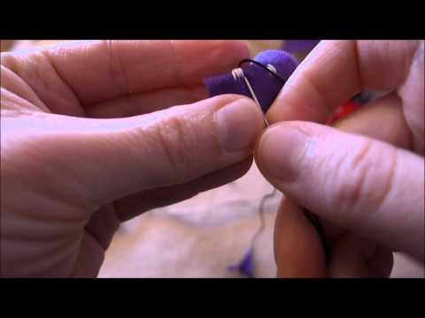Slöjdlektion 14 Sy små figurer med påtad svans 1 - bebisormen