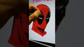 Live Drawing of Deadpool in 2 Minutes or Less