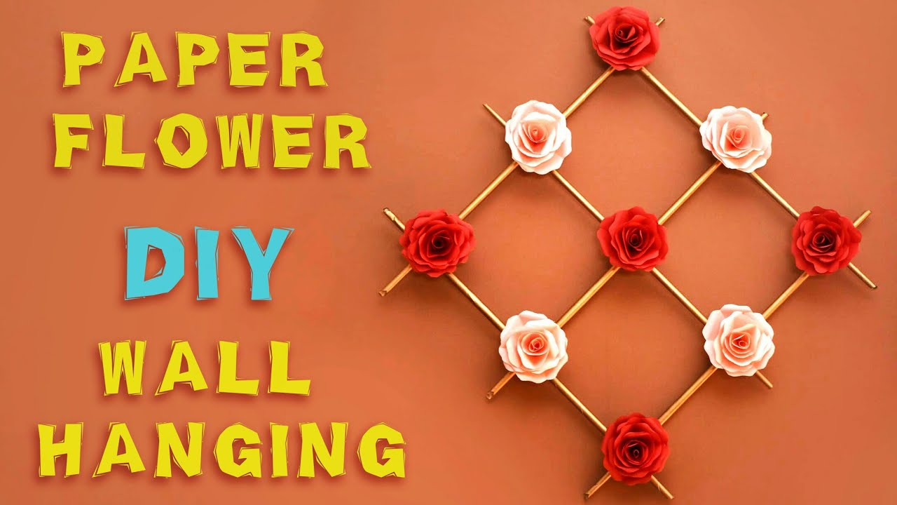 Paper Flower Wall Hanging | Wall Hanging Craft Ideas | DIY Wall ...