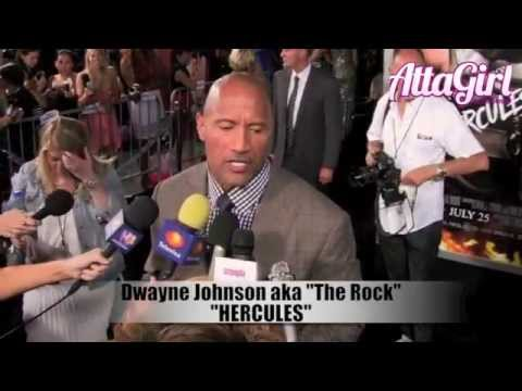 THE ROCK & Stars of Hercules Premiere hit Hollywood
