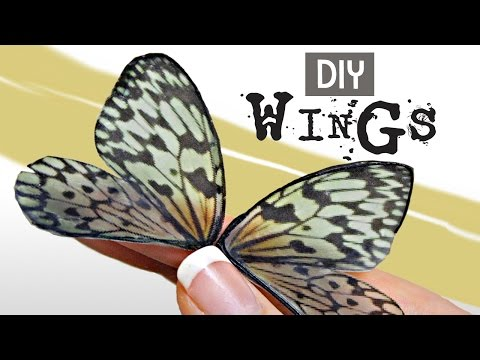 Easy Wing DIY For Fairy, Dragon & Butterfly Projects- Oven-safe/Waterproof