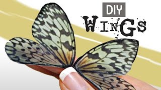 Easy Technique on How to Make Fairy Wings for a Doll, butterfly or Jewelry Project