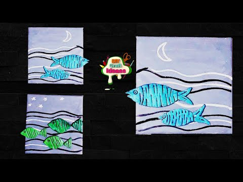 Simple, easy Fish crafts clay & cardboard 5 minutes - Fishes wall decor - Arush diy craft ideas