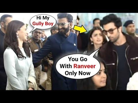 Ranbir Kapoor FIGHTS With Alia Bhatt Because Of Ranveer Singh At Delhi Airport Mp3