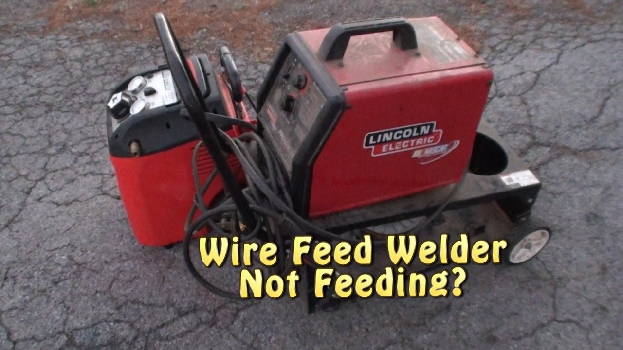 Wire feed welder not feeding lincoln pro mig 175 youtube for Mig welder wire feed motor not working