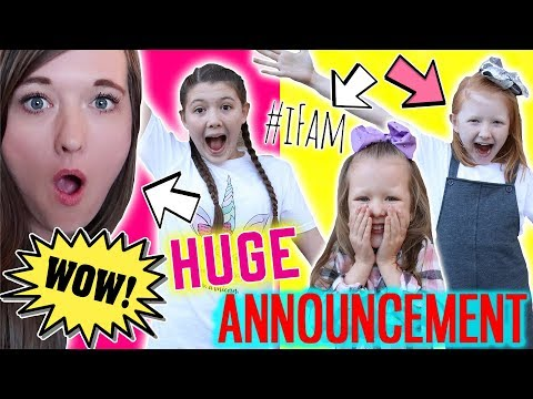 WE HAVE A HUGE ANNOUNCEMENT!