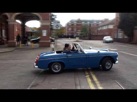 Morley & Martin drive off from Hertford East in the MG Midget