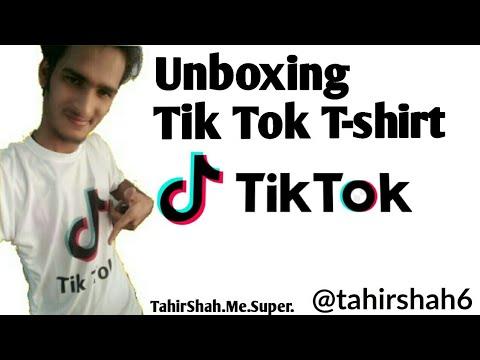 553b26e03408 😎👍Unboxing Tik Tok T-shirt😍😍😍 Made By Tahir Shah.Me.Super ...