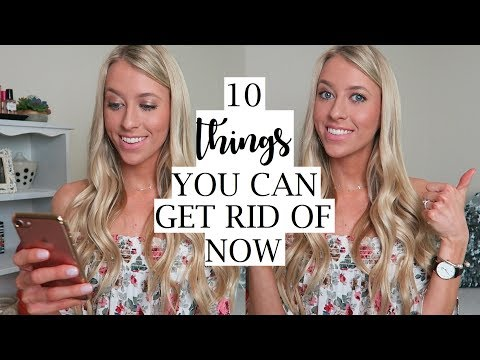 10 Things You Can Get Rid Of Now | Declutter Your Life | Minimalism | Erica Lee