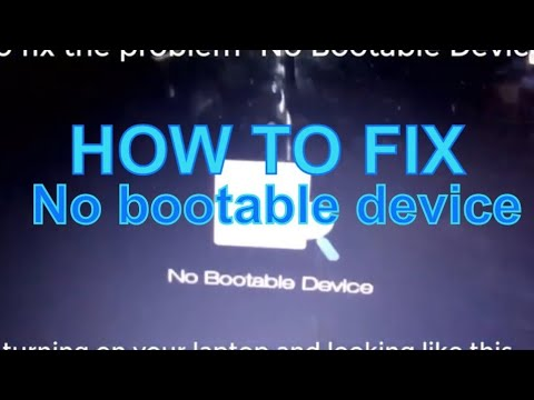 Fix For Dell Error No Bootable Device Found