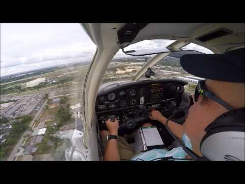20150608_student pilot Victor's first SOLO flight in Piper Warrior - Pompano Beach Airpark