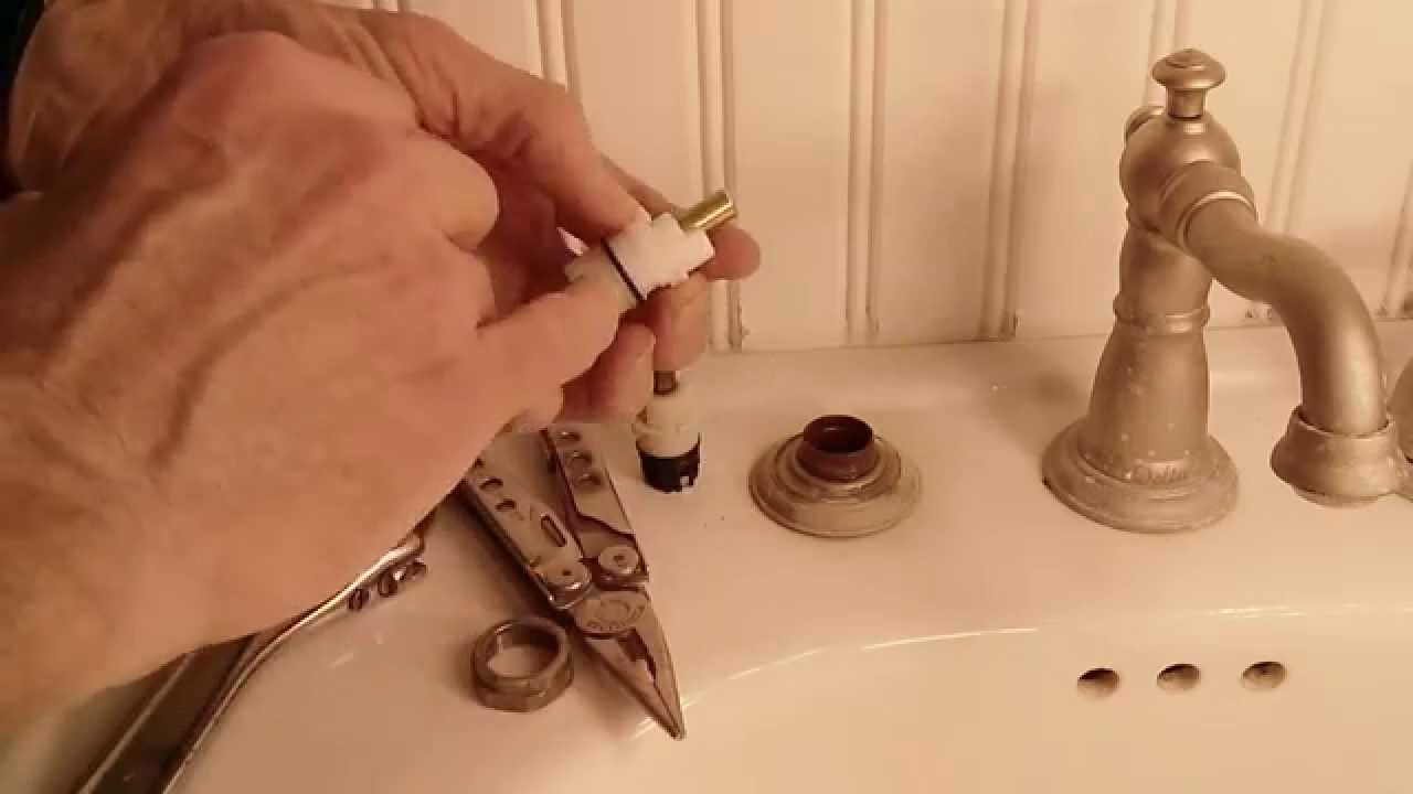 Bathroom Faucet Is Leaking how to fix a leaky delta two handle faucet - youtube