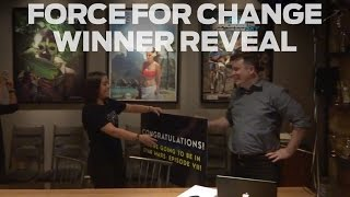 Repeat youtube video Star Wars: Force For Change Winner Reveal