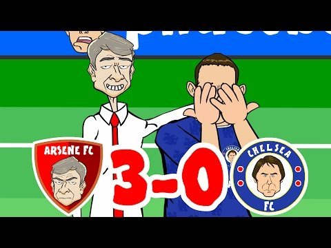 Arsenal vs Chelsea 3-0 Goals and Highlights! (2016 Poor Old Chelsea Song)