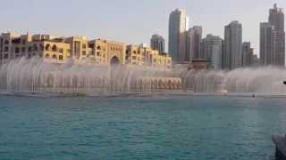 Dubai Fountain - The First Show of the day  -  August 2015
