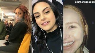 Camila Mendes, Madelaine Petsch & Vanessa Morgan   Riverdale   Instagram Story Videos   January 31