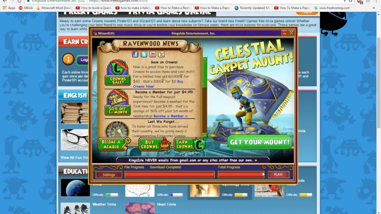 2 Ways To Earn Free Crowns On Wizard101