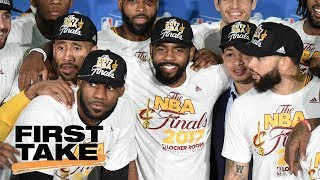 What does 76ers and celtics trade mean for cavaliers? | first take | june 19, 2017