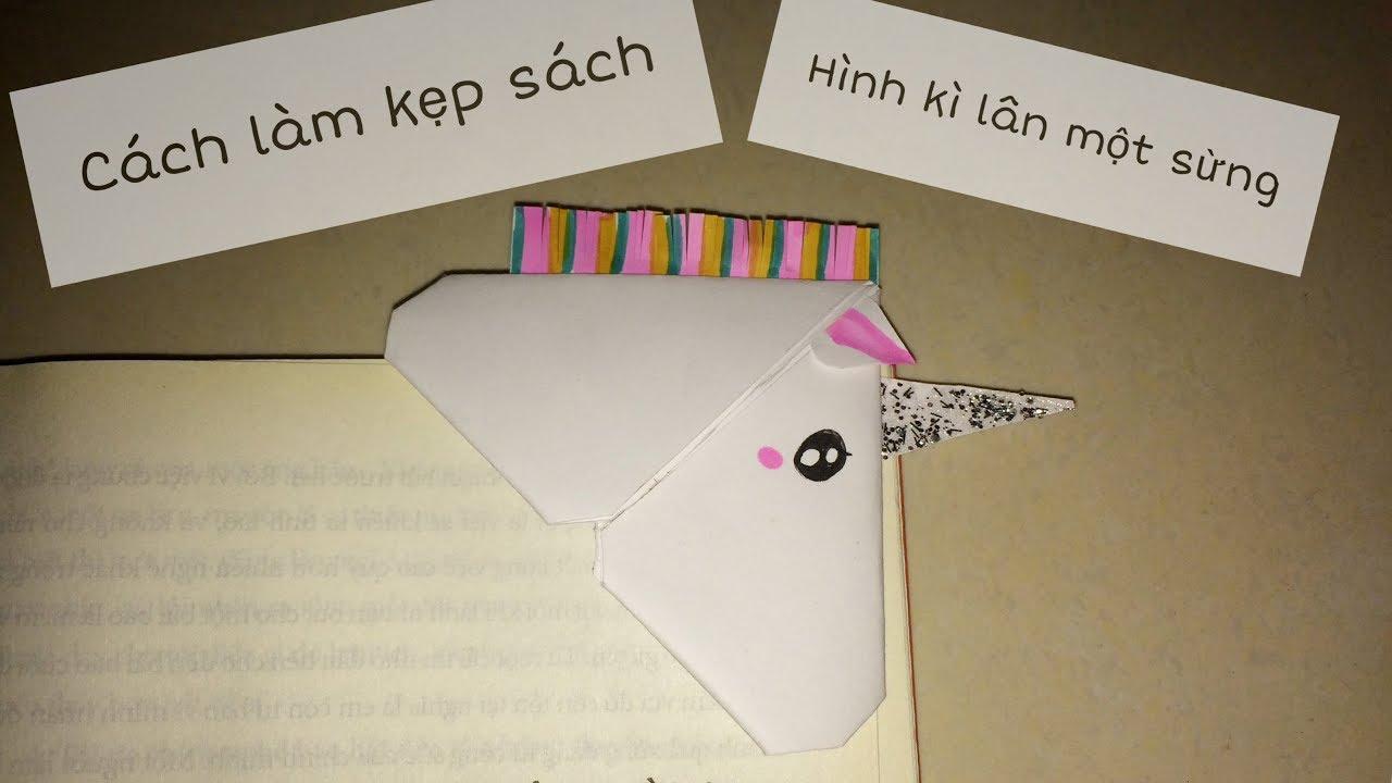 🦄 Làm kẹp sách hình con kì lân một sừng | DIY Unicorn Bookmark | RXTN DIY 111
