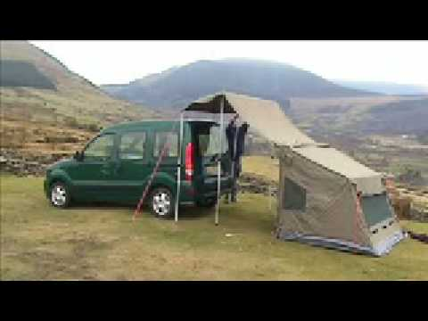 & oz-tent and the amdro jump kangoo campervan. - YouTube