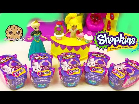 Disney Frozen Queen Elsa Unboxing 5 Shopkins Fashion Spree Surprise Blind Bags - Cookieswirlc Video