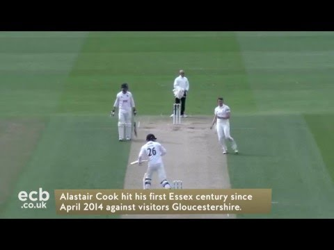 Cook hundred for Essex but Gloucestershire fight back on Day 2