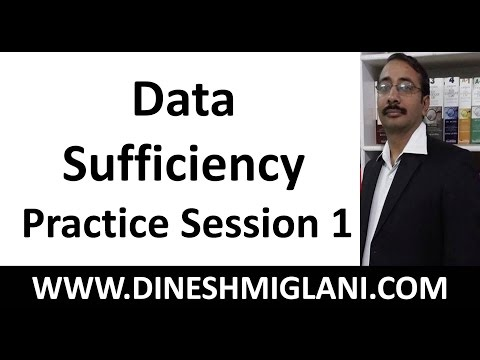 Best Tricks and Shortcuts to Data Sufficiency  Practice Problems Session 1 by Dinesh Miglani Sir