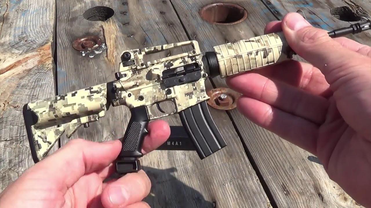 Miniature Ar-15?! Camo M4a1 Rifle Replica Shown  Goatgun 00:43 HD