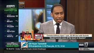 Stephen A. Smith on Carmelo Anthony BENCHED in Houston Rockets! First Take