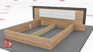 Bed from bedroom set Verso- Furniture Videnov