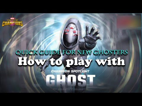 How to play with Ghost? A quick guide for new ghost players- Marvel Contest of Champions