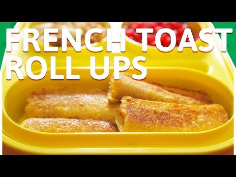 French Toast Roll Up - Quick Breakfast Recipe - French Toast - Tiffin Recipe For Kids