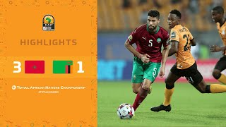 HIGHLIGHTS   Total CHAN 2020   Quarter Final 3: Morocco 3-1 Zambia