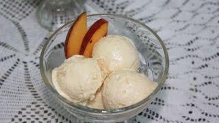 ايس كريم بالخوخ Peach Ice Cream