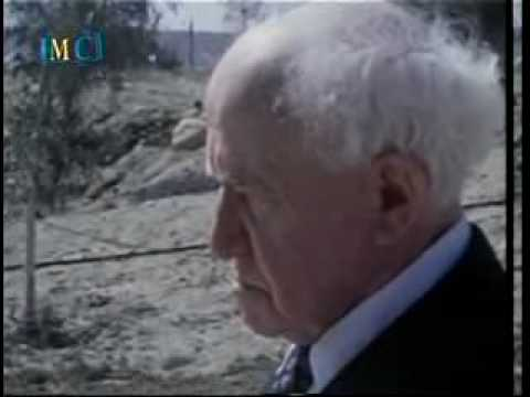 David Ben Gurion and Teddy Kollek at Kotel Western Wall