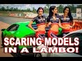 Hot Girl Freaks out in a 610hp Lamborghini! Taking Promo Models on Track for Their First Time!