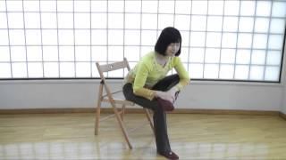 ポイント解説つき椅子ヨガ動画! 『ネットdeグナヨーガ チェアー』 ポー...
