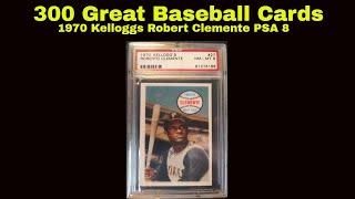 300 GREAT BASEBALL CARDS 1970 KELLOGGS ROBERTO CLEMENTE