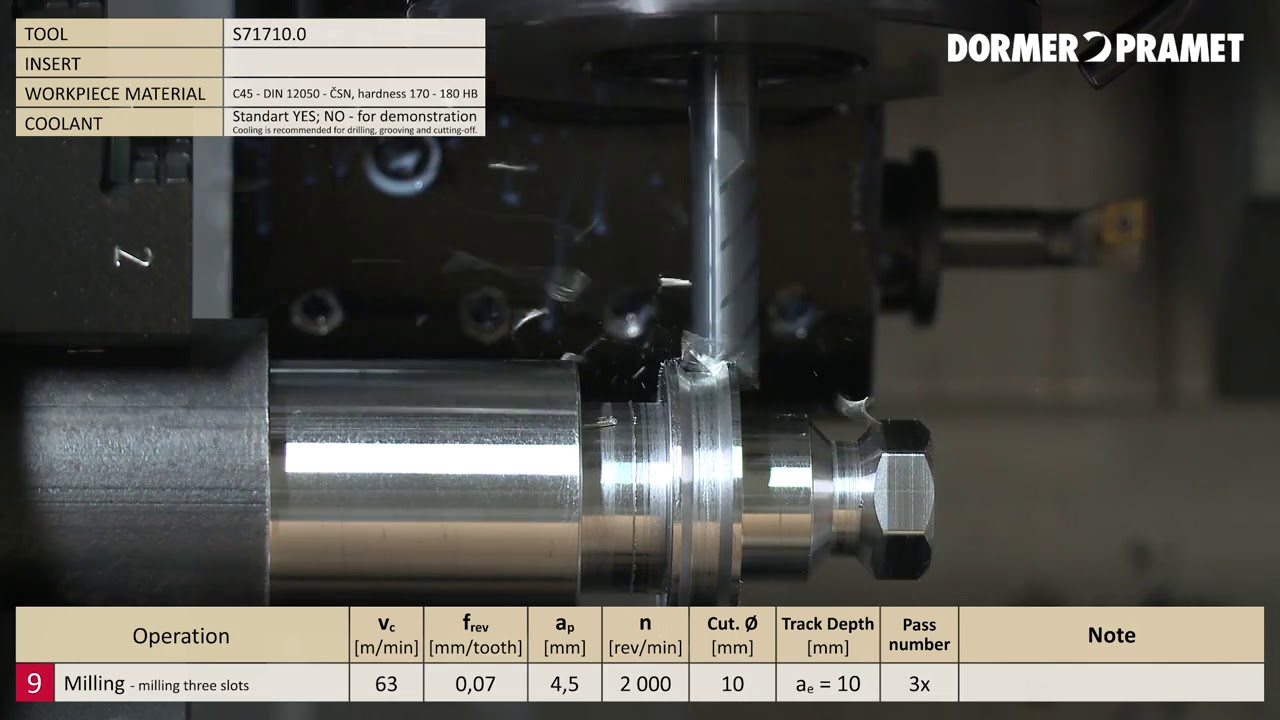 Dormer Pramet tooling demonstration - YouTube