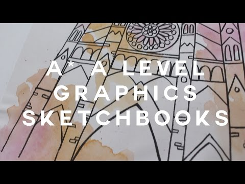 A* a level graphic art sketchbooks! (full marks)